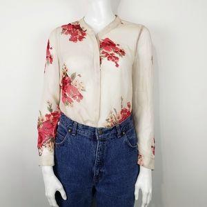 JOIE Silk Devitri Floral Blouse